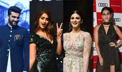Arjun Kapoor, Ileana, Kriti Sanon and Shruti Hassan at the launch of Audi A5 - Pictures