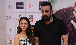 Cast of the film Bhoomi grace the press meet of the film in Delhi - Pictures
