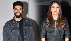 Bhumi, Kunal Rawal and Nikhil Thampi snapped at Manish Malhotra House - Pictures