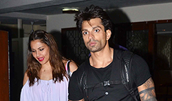 Bipasha Basu and Karan Singh Grover snapped at a friend's place - Pictures