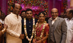 Rajinikanth at Vagai chadrasekar Sir's Family Wedding Reception - Pictures