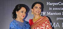 Deepika Padukone Launches Hema Malini's Book 'Beyond the Dream Girl' in Mumbai