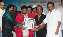 Guinness Record of Drummer Siddharth Nagarajan Press Release - Pictures