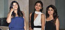 Shilpa Shetty, Shamita Shetty snapped at Ekta Kapoor's bash