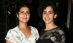 Dangal girls Fatima Sana Shaikh and Sanya Malhotra snapped post dinner in Bandra - Pictures