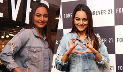 Forever 21 shop Launch of Actress Sonakshi Sinha at Express Avenue Mall - Pictures