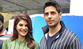 Sidharth Malhotra and Jacqueline Fernandez snapped at the trailer preview of A Gentleman
