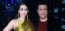 Govinda and Karisma Kapoor on the set of Dance Champions