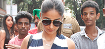 Ileana D'cruz snapped post meeting in bandra