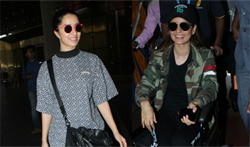 Injured Kangana and Shraddha Kapoor snapped at the airport - Pictures