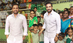 'Inter-Orphan Sports Meet' for special children by Santhanam on his Birthday - Pictures