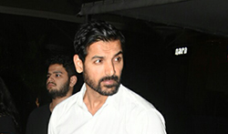 John Abraham and wife Priya Runchal snapped post dinner at Yautcha in Bandra - Pictures