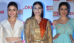 Kajol, Alia Bhatt, Sidharth Malhotra and Sushant Singh Rajput at Lokmat Stylish Awards - Pictures
