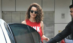 Kangna Ranaut snapped post sword fight rehearsals for her movie Manikarnika - Pictures
