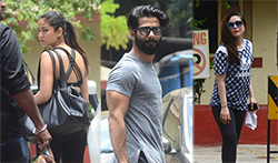 Kareena Kapoor Khan, Shahid Kapoor, Sooraj Pancholi and Mira Rajput snapped at the gym - Pictures
