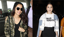 Katrina Kaif, Shraddha Kapoor and Anushka Sharma snapped at the airport - Pictures