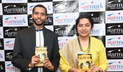 Sushasini with author Krishna Trilok launched his first novel - Pictures