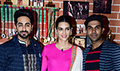 Kriti Sanon, Ayushmann Khurrana and Rajkummar Rao snapped promoting Bareilly Ki Barfi