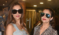 Malaika & Amrita Arora snapped at a store launch in suburbs - Pictures