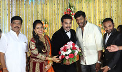 Actor Mithun Wedding Reception - Pictures
