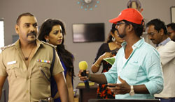 Motta Shiva Ketta Shiva Director Sairamani Working Stills - Pictures