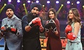 Mubarakan team promotes their film on Super Boxing League