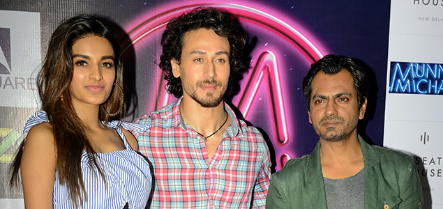 Tiger Shroff, Nidhhi and Nawazuddin  promote Munna Michael in Delhi - Pictures