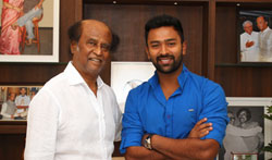 Mupparimanam Team with Superstar Rajinikanth - Pictures
