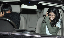 Navya Naveli snapped with a friend post after watching a movie at PVR Juhu - Pictures