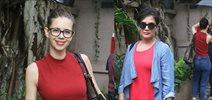 Richa Chadda and Kalki snapped post a movie screening in mumbai