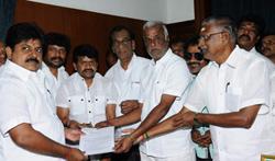 Producer Radhakrishnan Team Meets CM Edappadi K.Palaniswami - Pictures