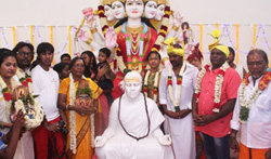 Raghava Lawrence Open Temple for His Living Mother - Pictures