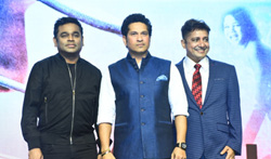 A R Rahman and Sachin Tendulkar at the launch of Sachin Sachin Song - Pictures