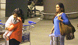 Rani Mukerji & baby Adira return back from holidays in Dubai - Pictures