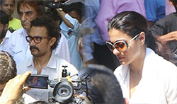 Aamir Khan, Kajol and others attend Reema Lagoo's funeral - Pictures