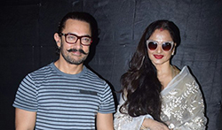 Rekha, Akshay Khanna, Sharman Joshi and Aamir khan at Secret Superstar screening - Pictures