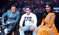 Salman Khan and Katrina Kaif on the sets of Dance India Dance