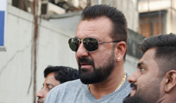 Sanjay Dutt snapped post meeting with Bhatts at Vishesh film office - Pictures