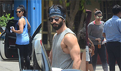 Shahid Kapoor, Mira Rajput, Kareena Kapoor and Amrita Arora snapped at the gym - Pictures