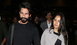 Shahid Kapoor and Mira Rajput Kapoor return from London - Pictures