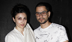 Soha Ali Khan and Kunal Khemu grace the screening of the film 'An Insignificant Man' - Pictures