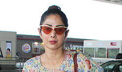 Sridevi spotted at the airport - Pictures