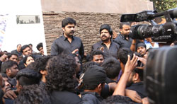 Actor STR Protest against ban of Jallikattu - Pictures
