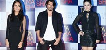 Sunny Leone, Amy Jackson and Karan SIngh Grover at Tamasha launch