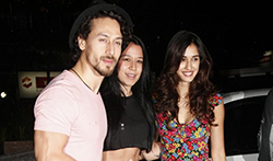 Tiger Shroff, Disha Patani and Nidhhi Agerwal snapped at the launch of Mane Maniac Salon - Pictures