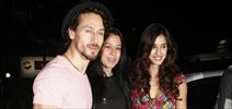 Tiger Shroff, Disha Patani and Nidhhi Agerwal snapped at the launch of Mane Maniac Salon