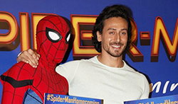 Tiger Shroff at Spiderman -The Homecoming promotions - Pictures