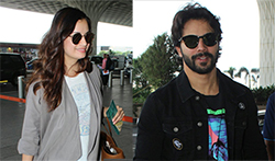 Varun Dhawan, Saif Ali Khan and Dia Mirza and others spotted at the airport - Pictures