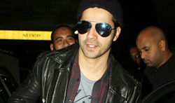 Varun Dhawan arrives back from Delhi - Pictures