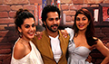 Varun Dhawan, Jacqueline Fernandez and Taapsee Pannu snapped promoting 'Judwaa 2' at Mehboob Studio